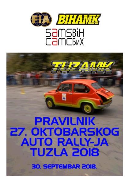 Pravilnik 27 oktobarskog Auto Rallyja Tuzla 2018_001